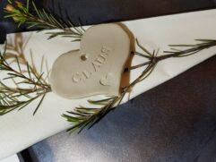 BORDKORT håndlavede i keramik